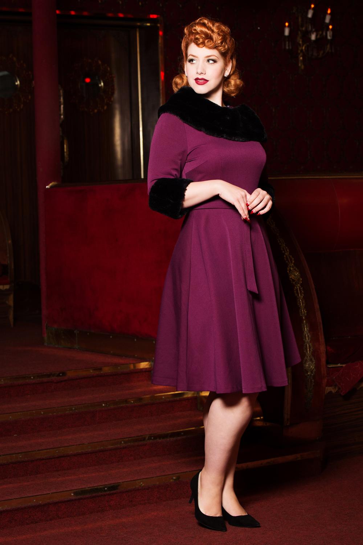 Belle Fur Collar Dress