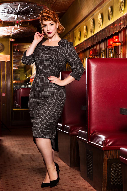 Veronica Tartan Pencil Dress