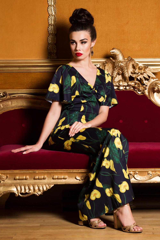 Annie Calla Lily 40s Maxi Dress