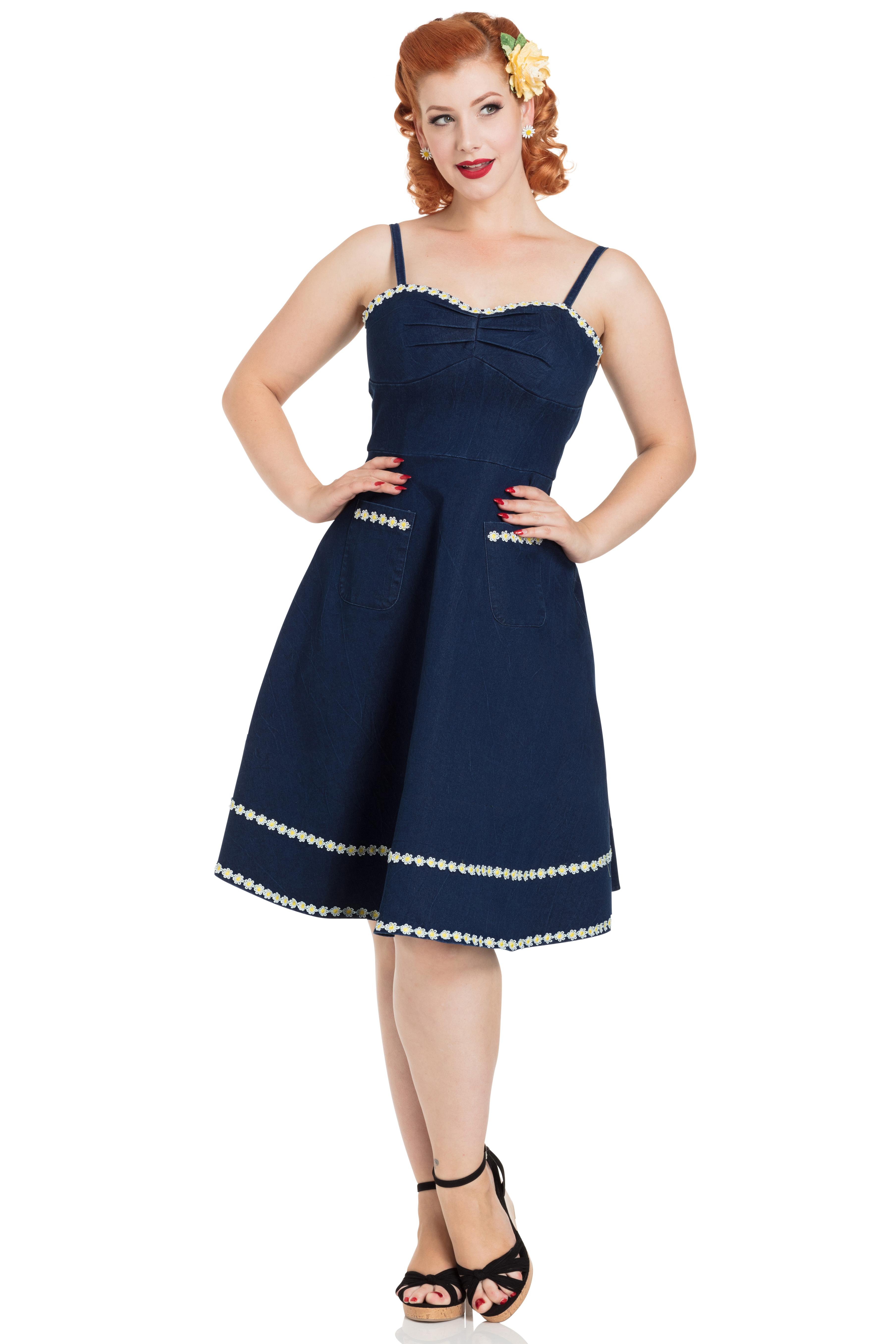 Daisy May Denim Flared Dress