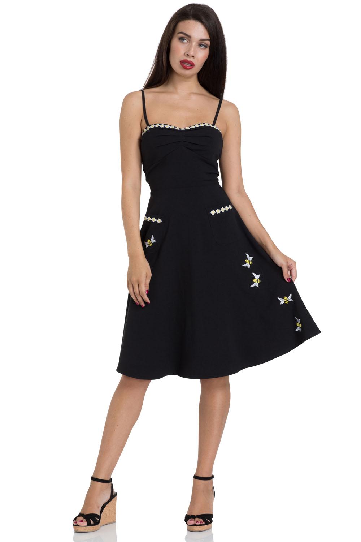 Bee Black Flared Dress