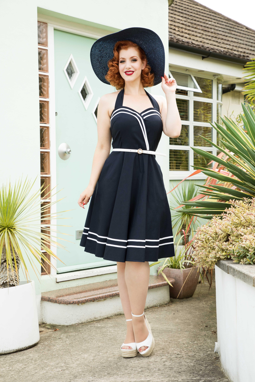 Charlotte Nautical Halter Dress