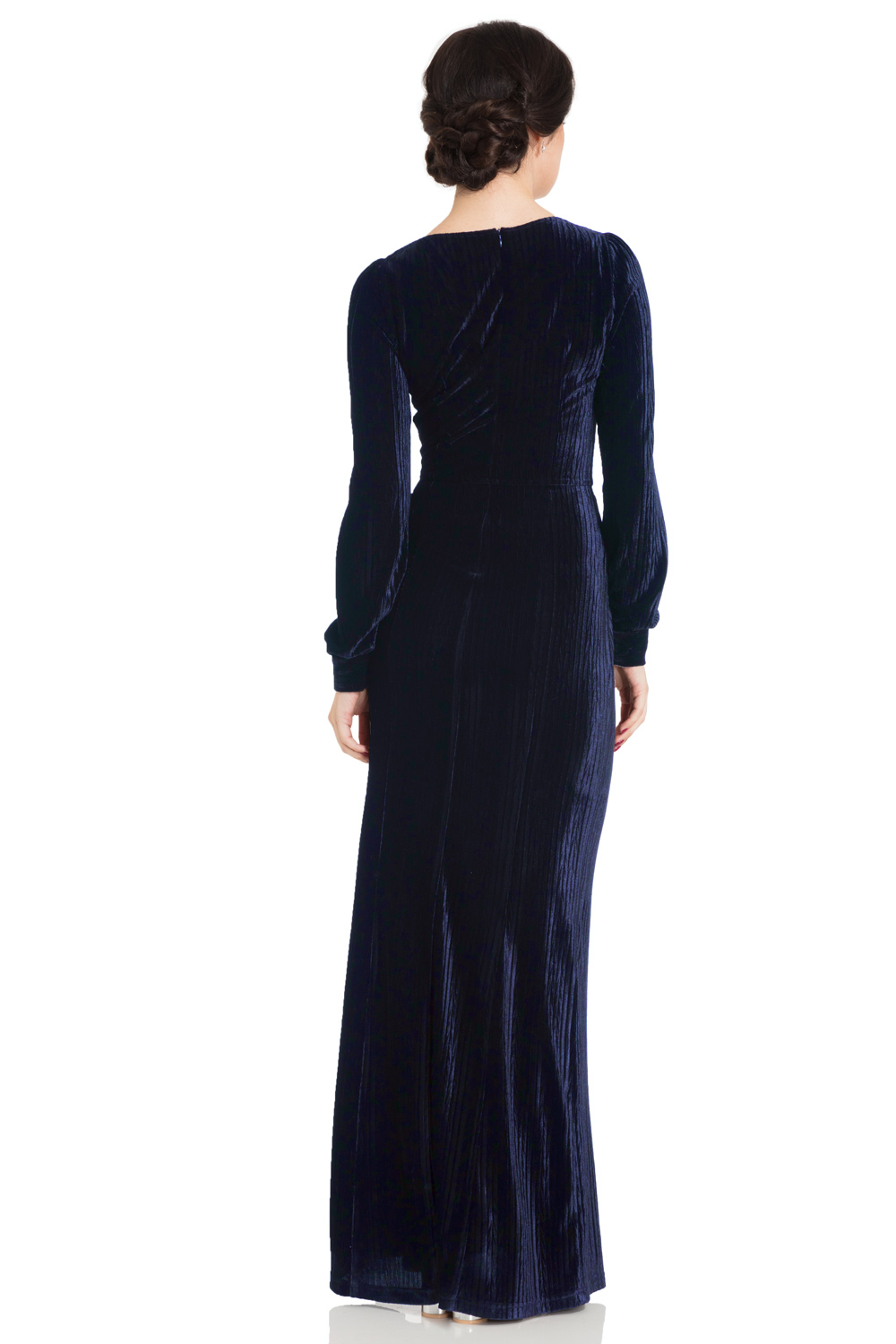 Nicki 30's Navy Velvet Gown