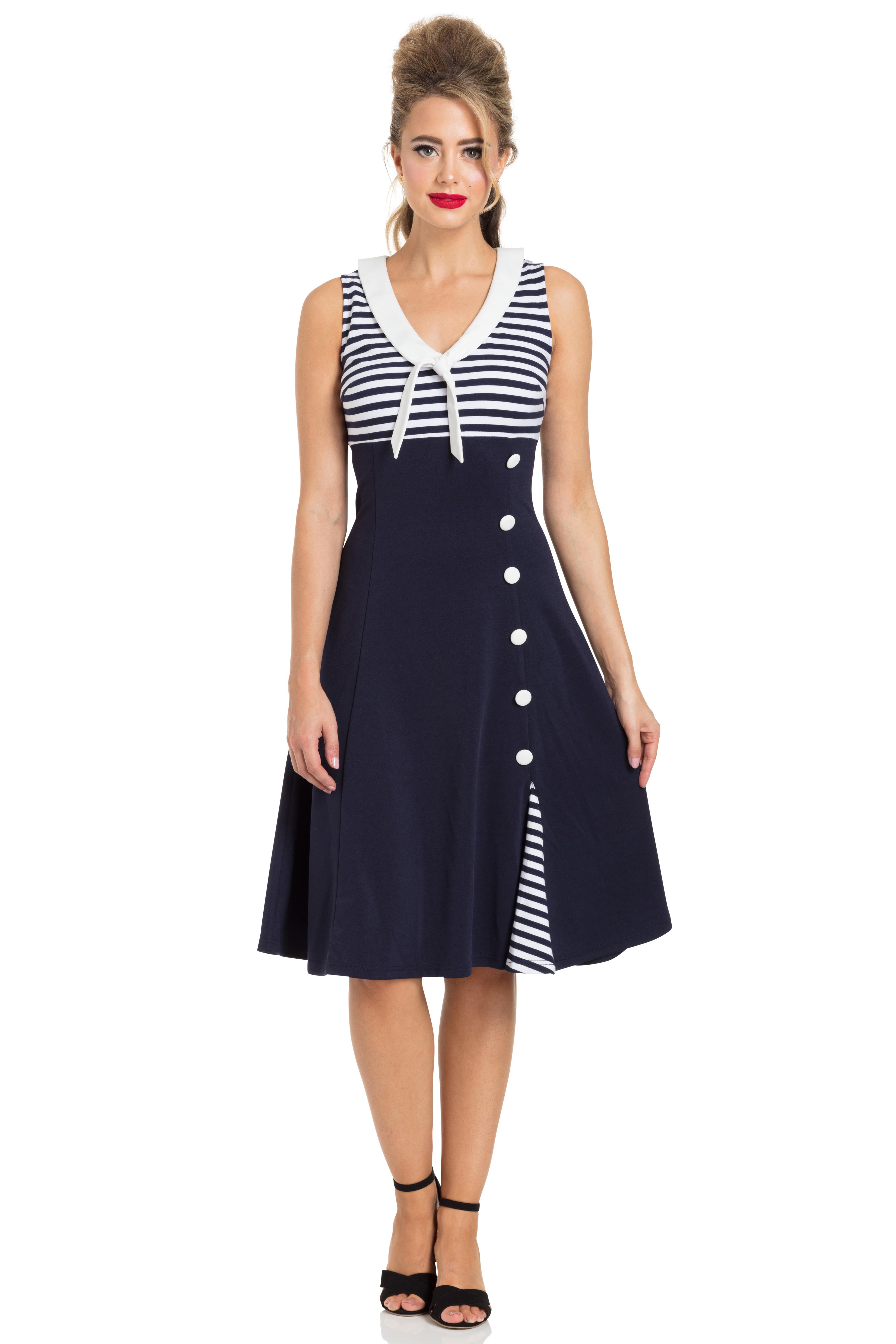 Vera Nautical Flared Sailpr Dress