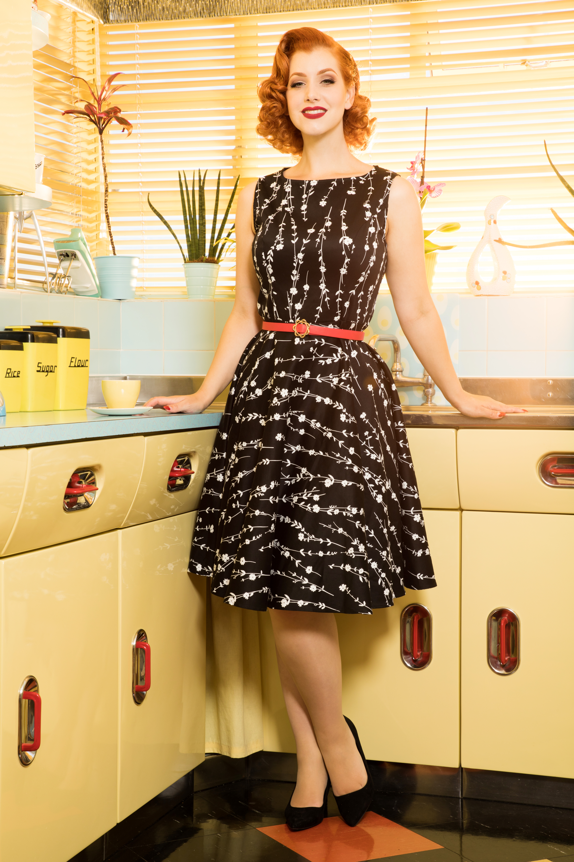 Mariam Black Floral Dress