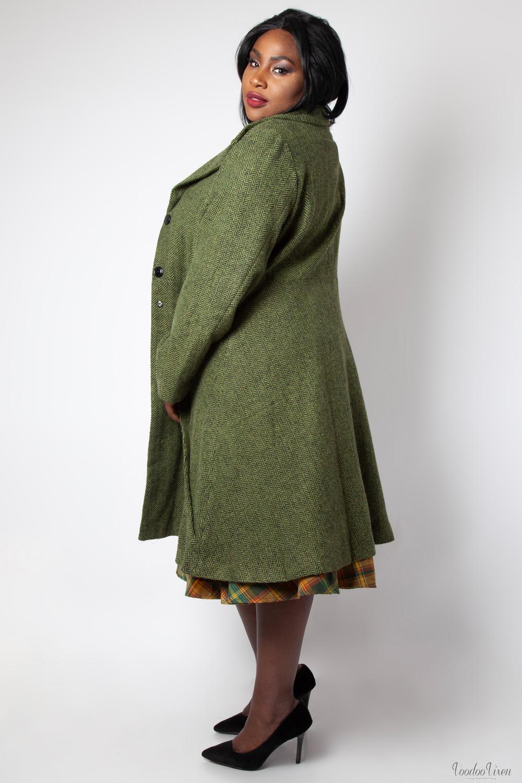 1930s 1950s Green 1940s Style Plus 40's Size Voodoo Nicole Vintage Vixen Coat qHR8v8
