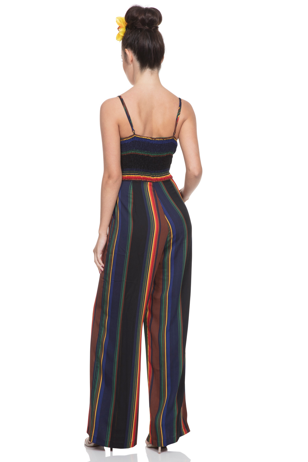 Vivian Striped Jumpsuit with Bow