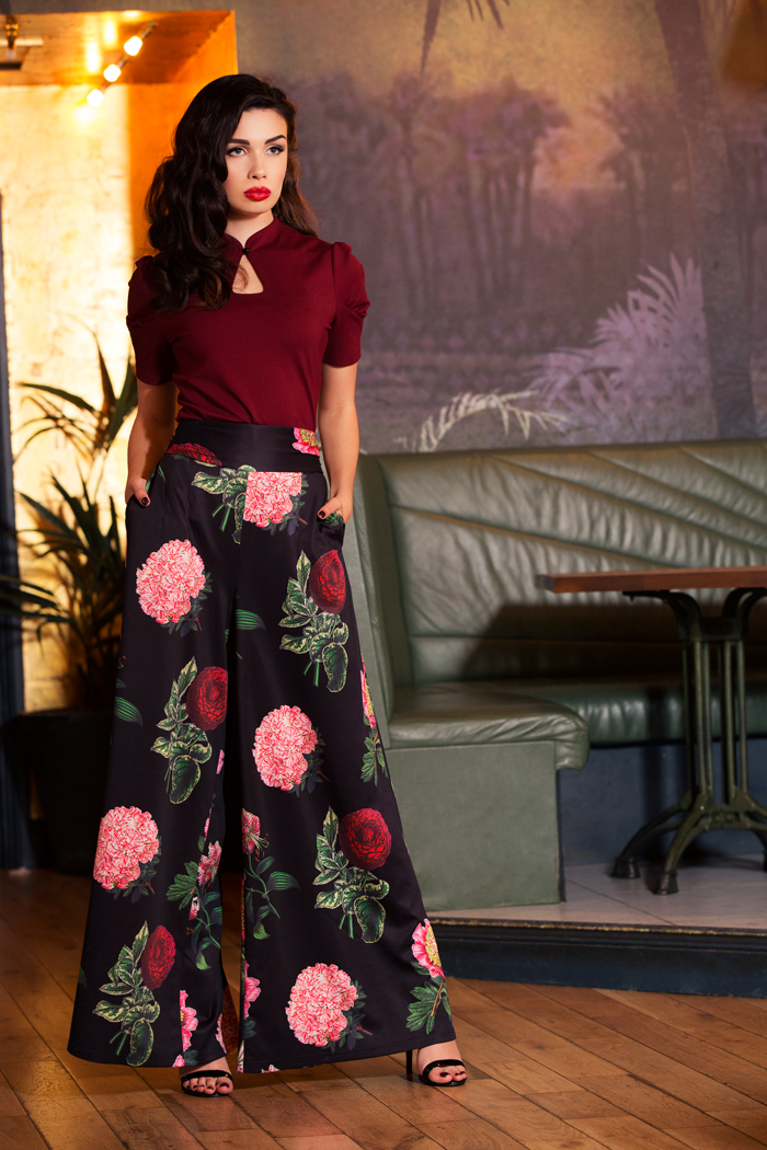 Natalia Floral Flared Trousers