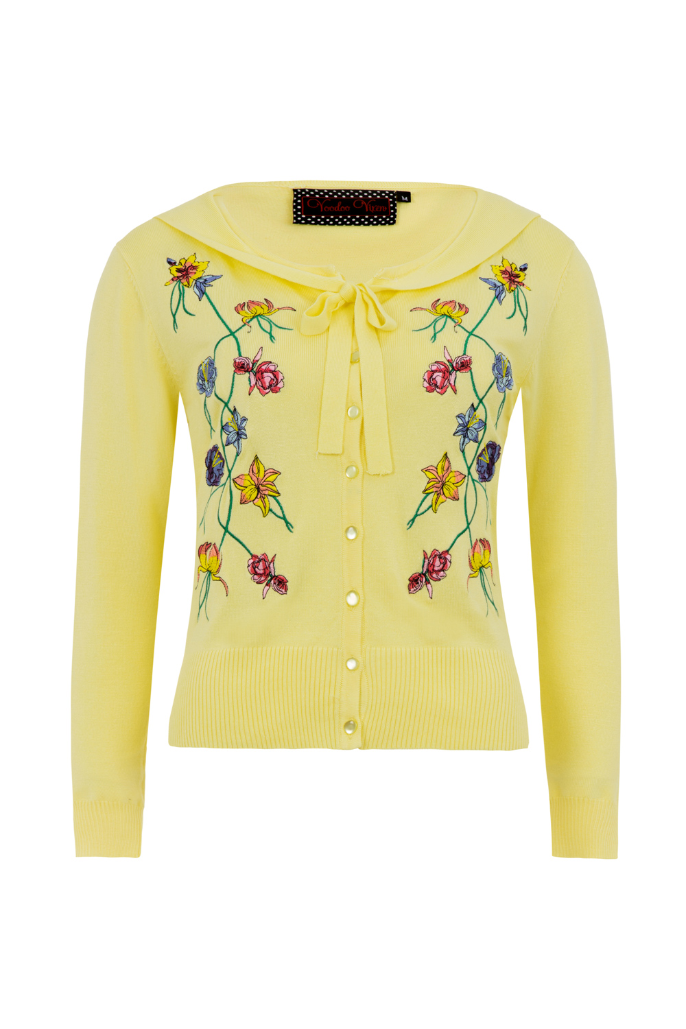 Laura Floral Embroided Cardigan