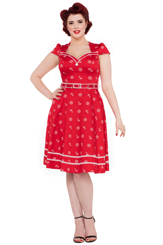 Leslie 50s Nautical Dress