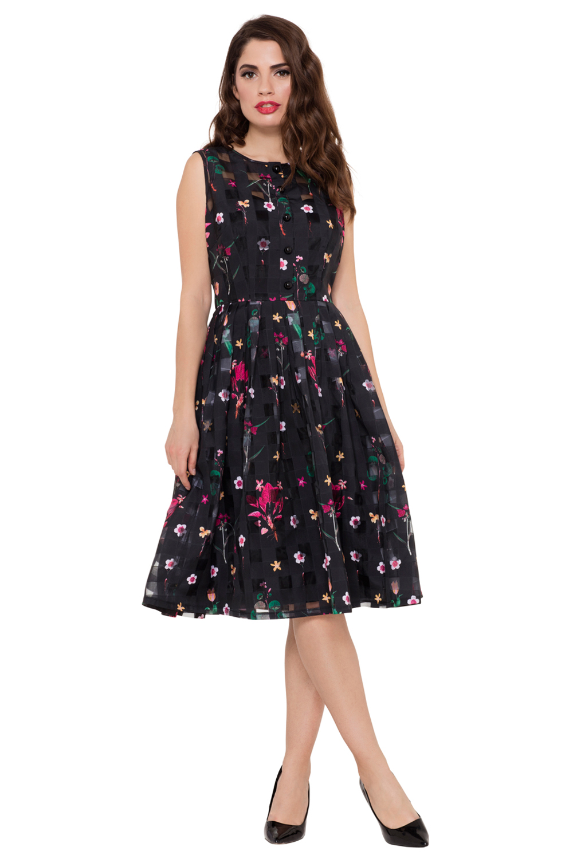 Betsy Floral Black Dress