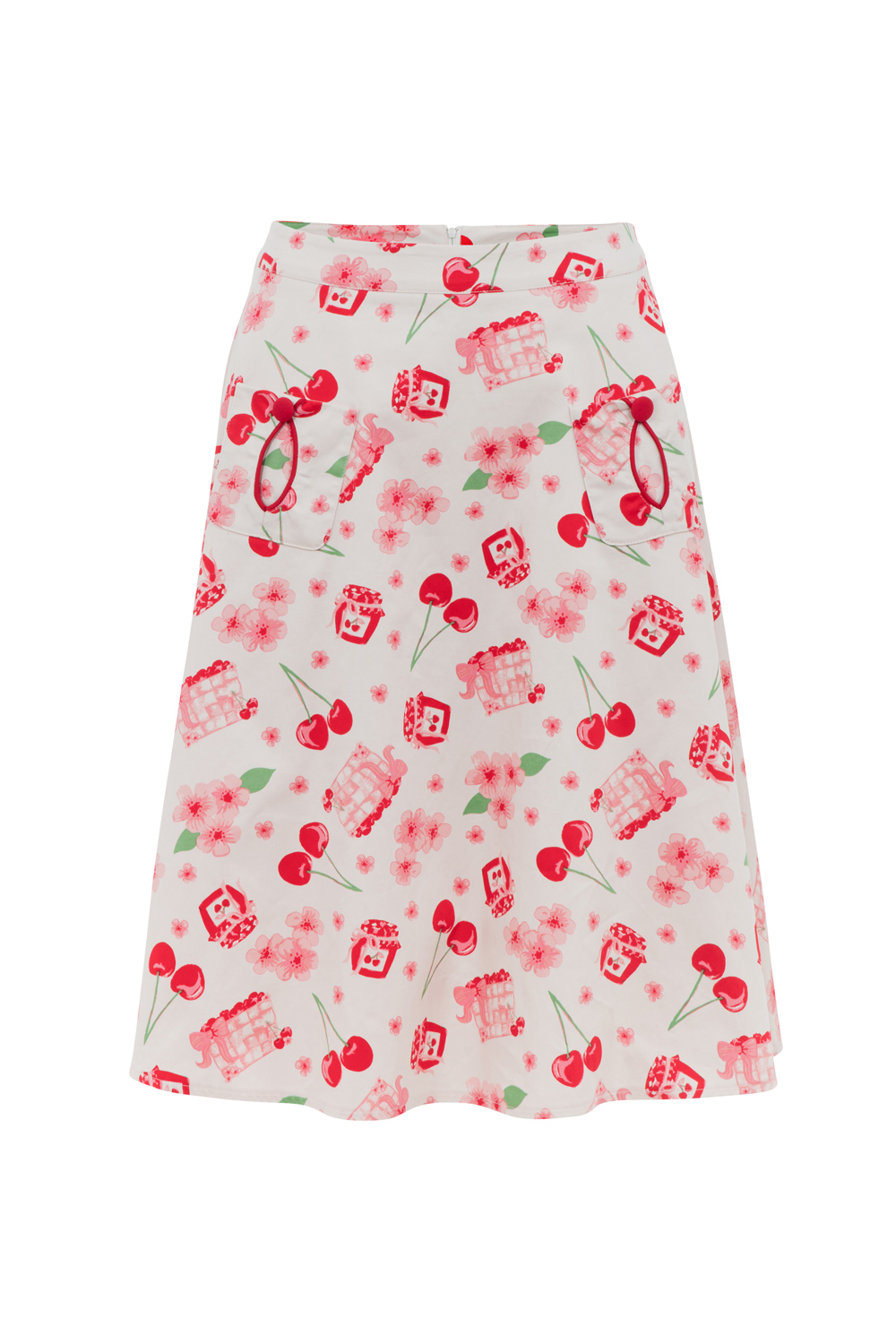 Zena Flared Cherry Skirt