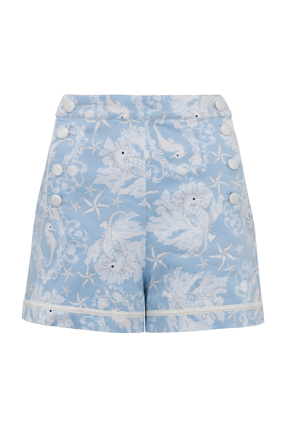 Jeanette Seahorse Print Shorts