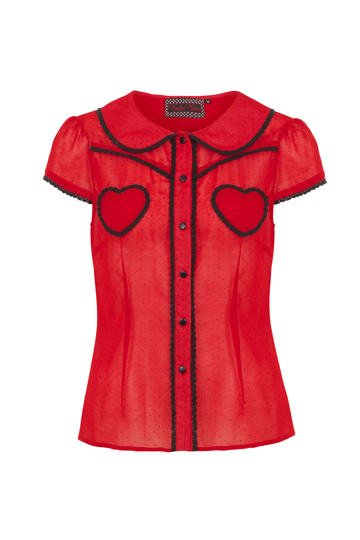 Cherry Ann 50s Sweetheart Top