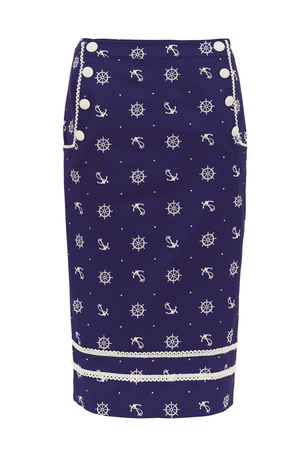 Valerie Navy Nautical Skirt