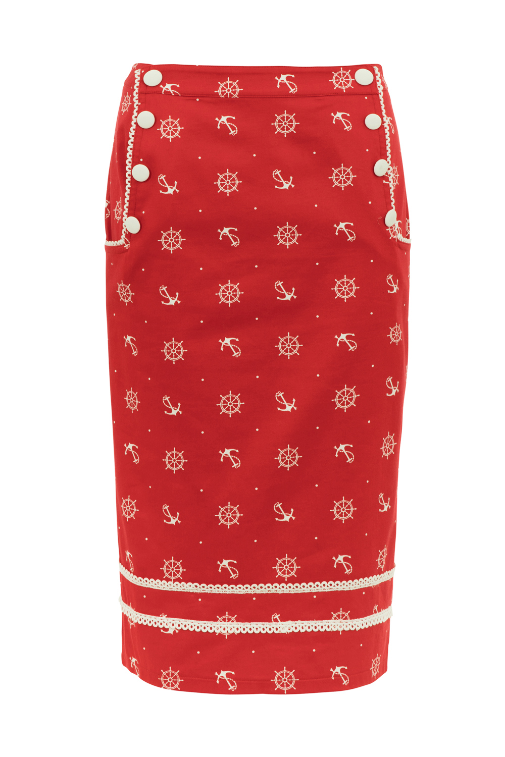 Valerie Nautical Pencil Skirt