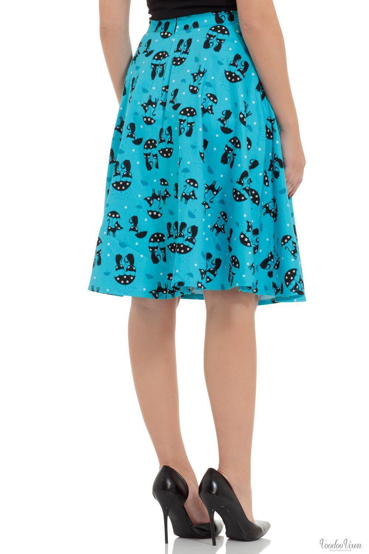 Voodoo Vixen damen Morgana Blau Retro Cat Skirt | Ich Ich Ich kann es nicht ablegen  91d7ba