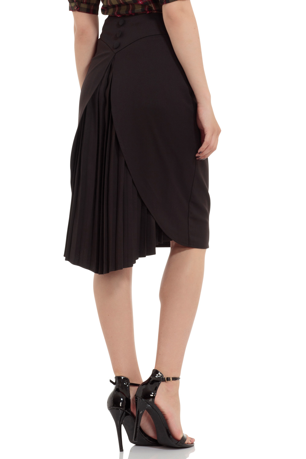 Elaine Dipped Hem Pencil Skirt