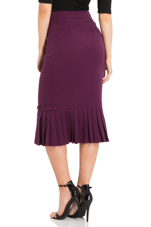 Violetta Pleated Hem Pencil Skirt