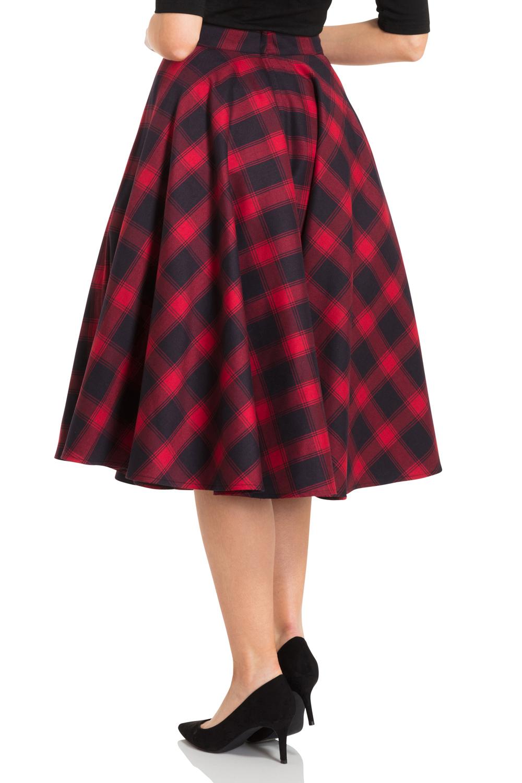 May Red Full Circle Skirt