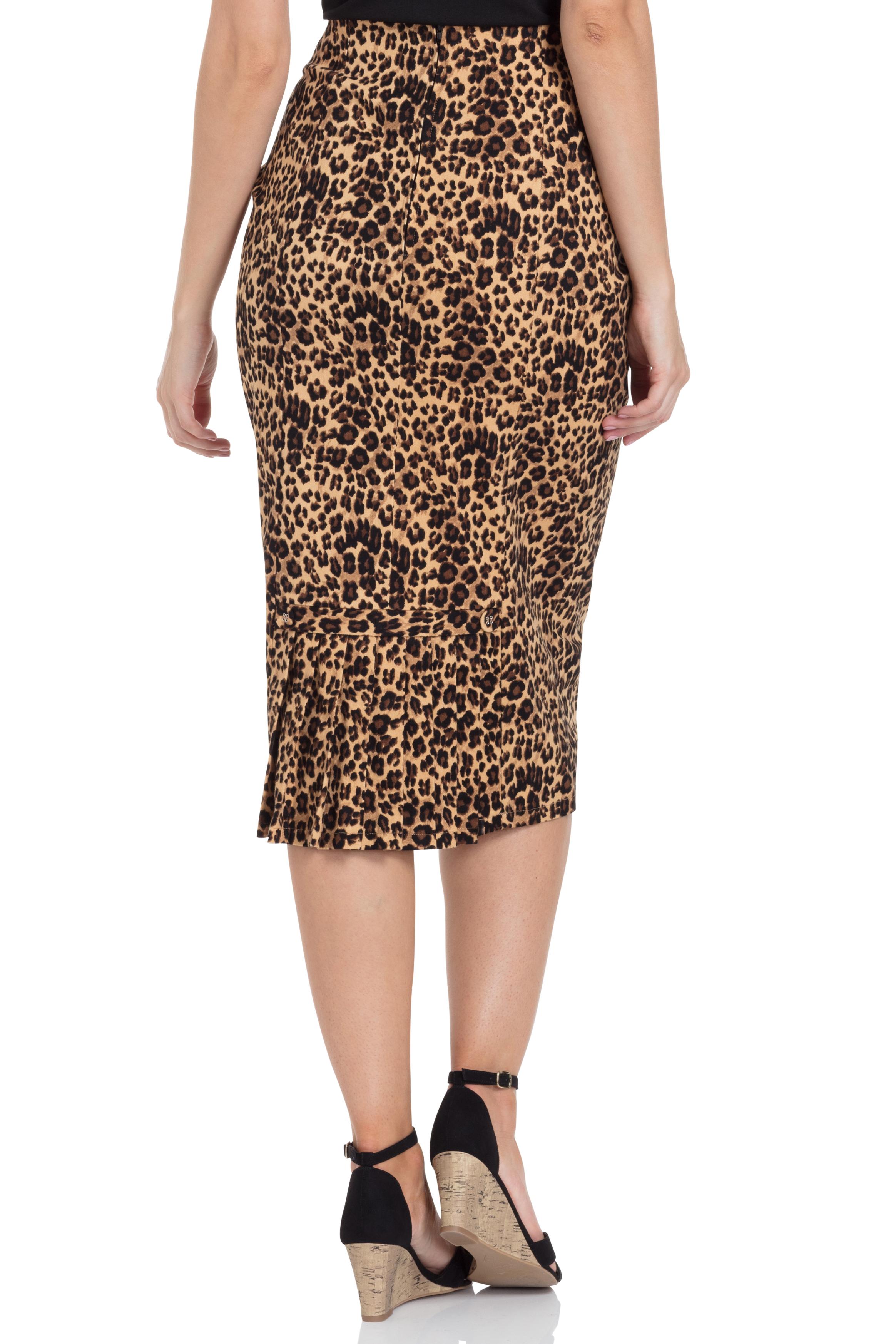 Izzy Leopard Print Wiggle Skirt