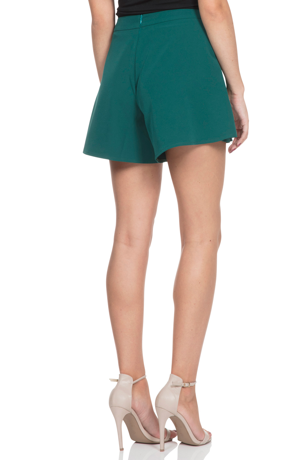 Mira Deep Green Swing Shorts