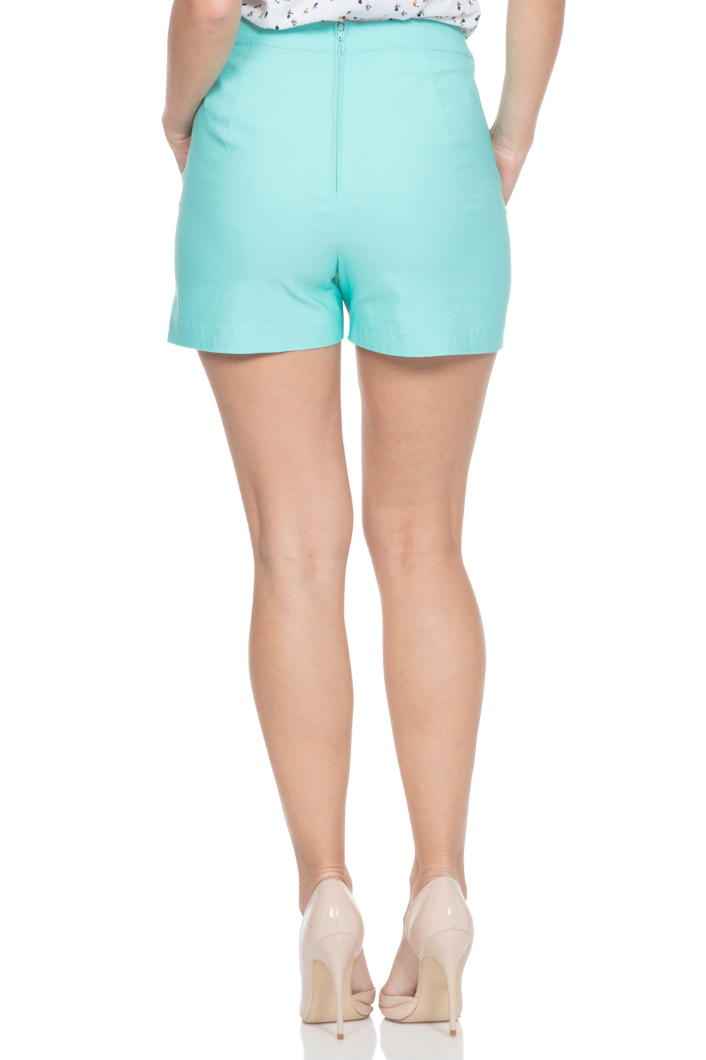 Evie High Waist Green Shorts