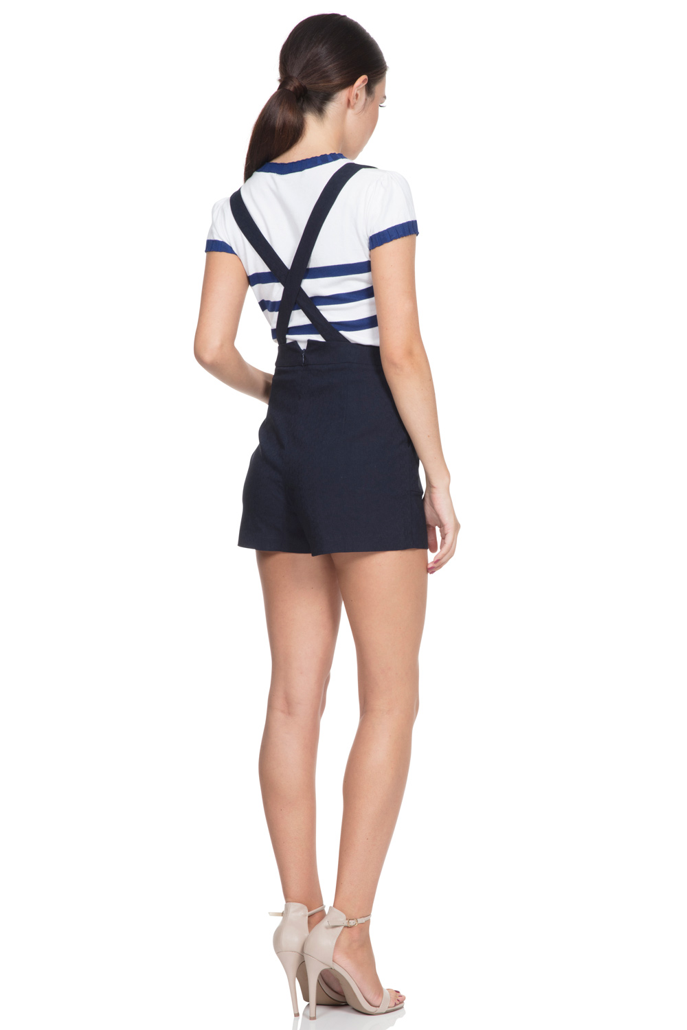 Daisy Nautical Shorts with Braces