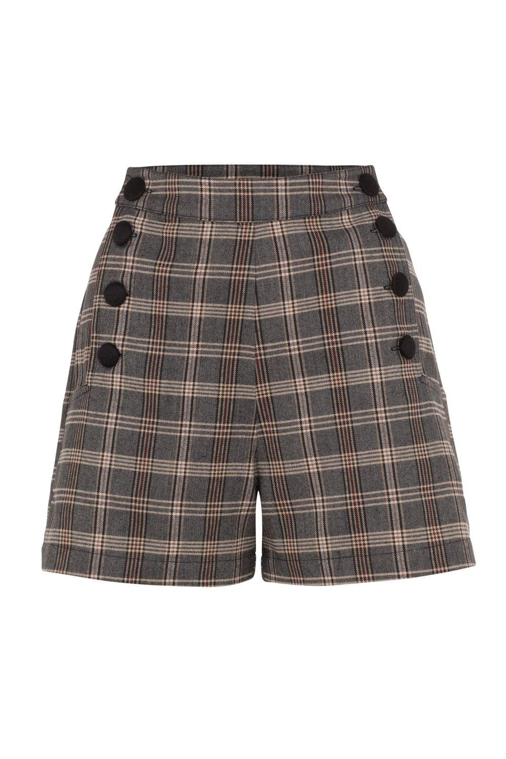 Whitney Brown High-Waist Shorts