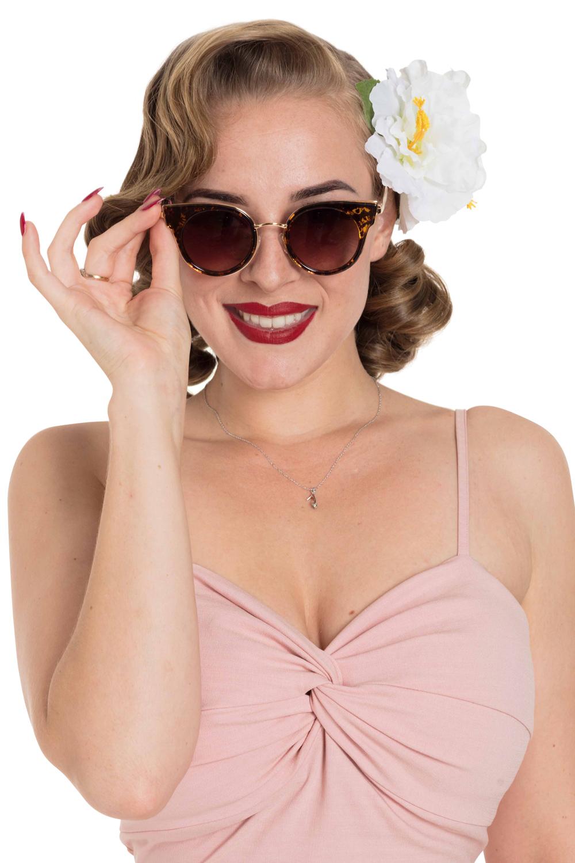 50's Round Leopard Sunglasses