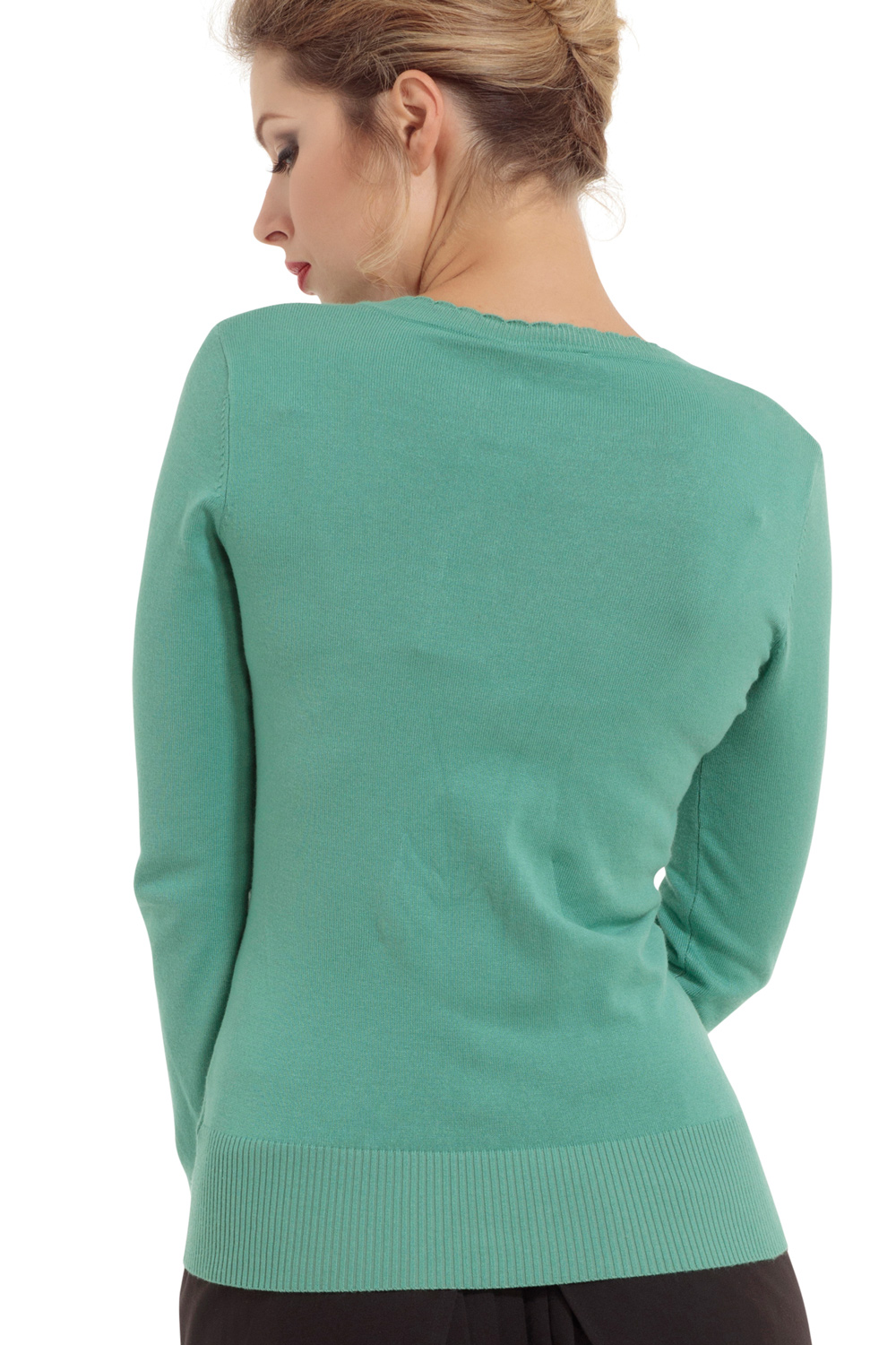 Sage Cherry Wrap Sweater