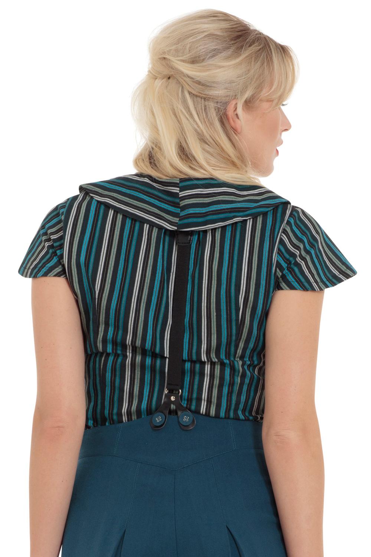 Viv Blue Striped Button Down Shirt