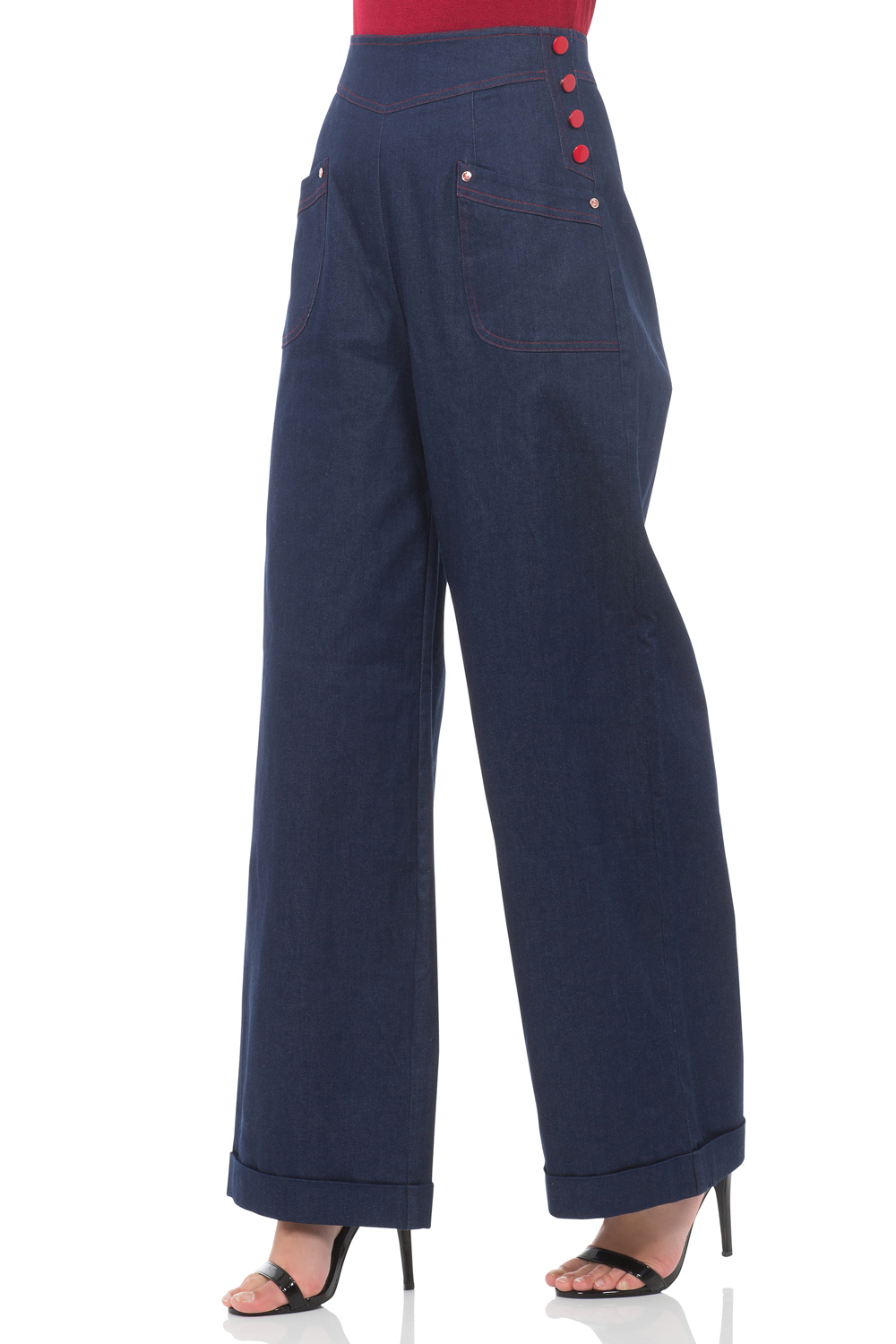 Lulu Flared Denim Trousers