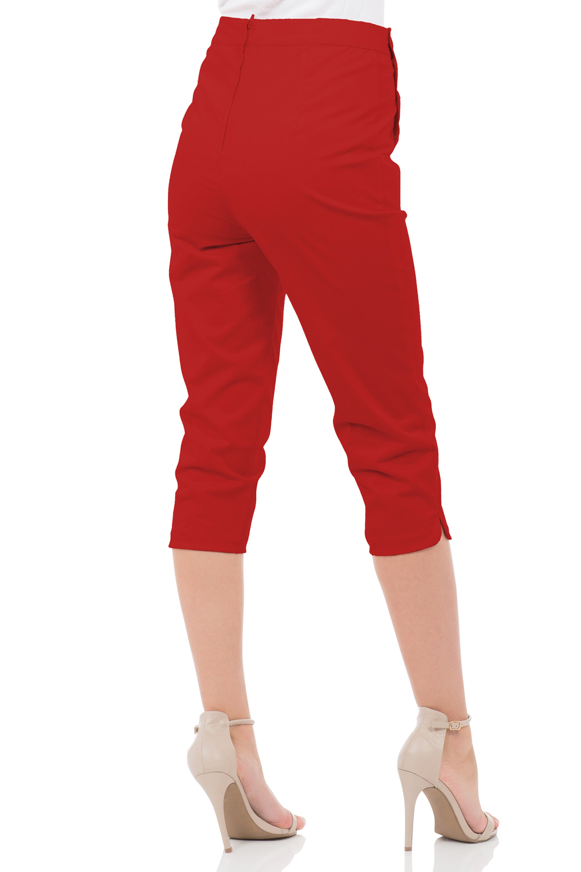 Becky Red High Waist Trousers