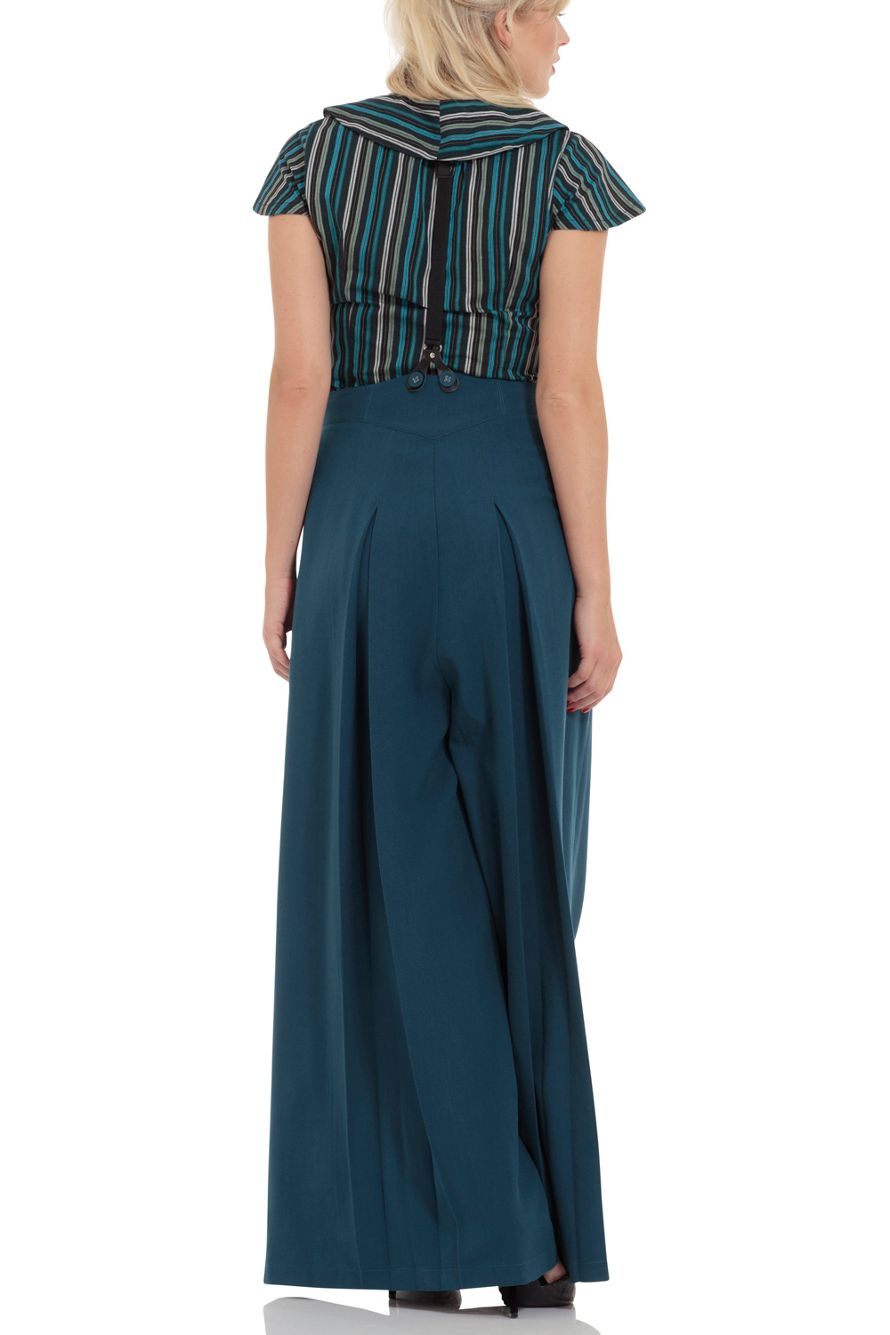 Shelley Flared Suspender Trousers
