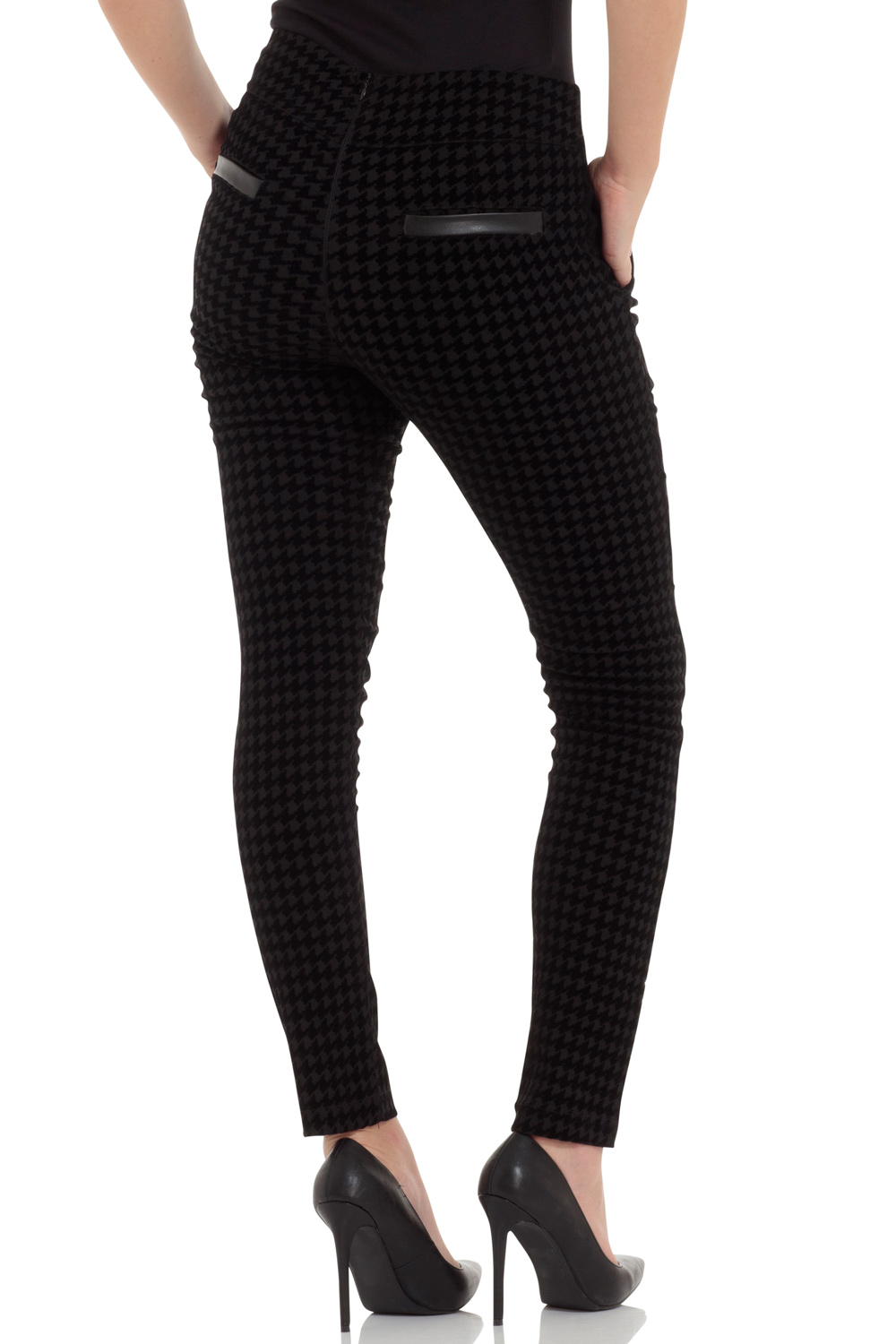 Peggy Black Cigarette Trousers