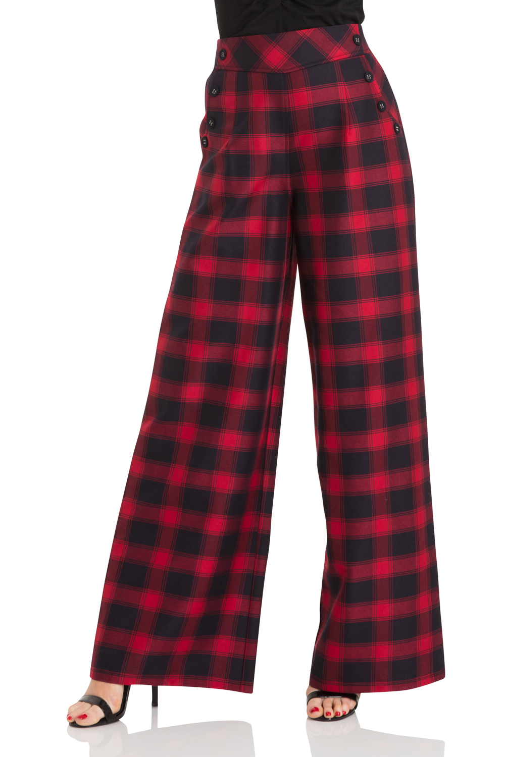 Rita Tartan Flared Trousers