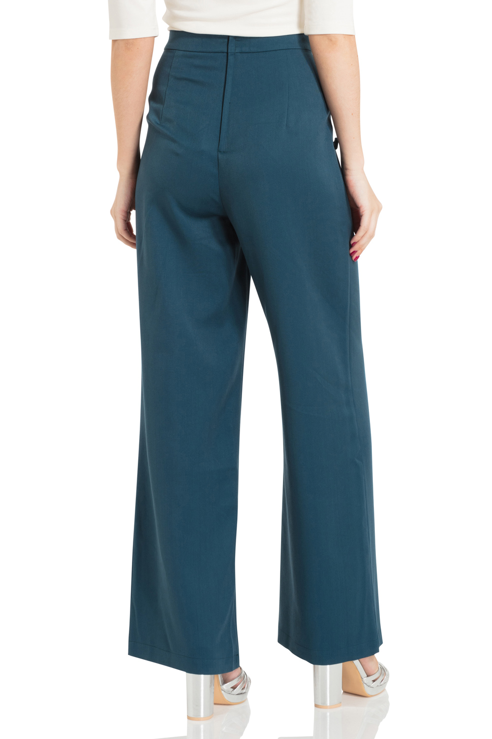 Sara Blue 40s Style Trousers