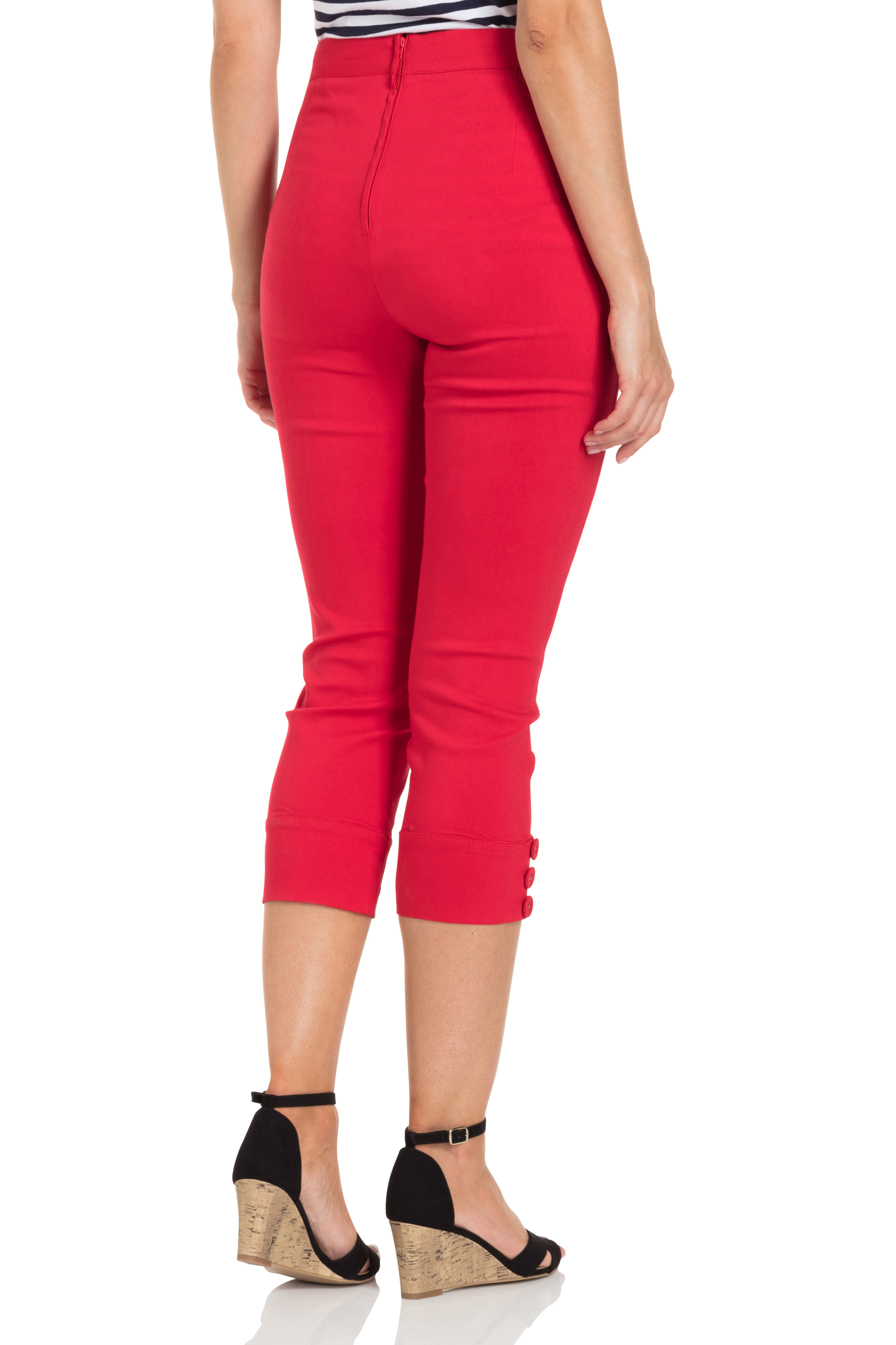 Holly Red Capri Pants