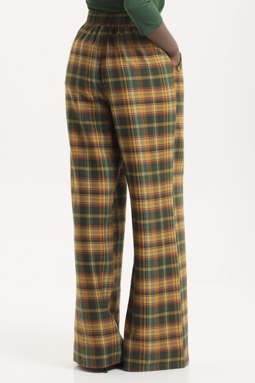 Nancy Tartan Flare Trousers