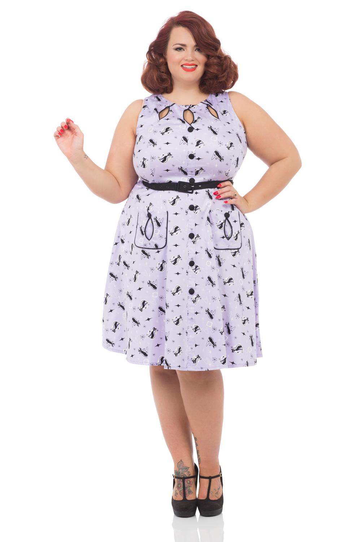 Lavender Kitty Plus Size Dress